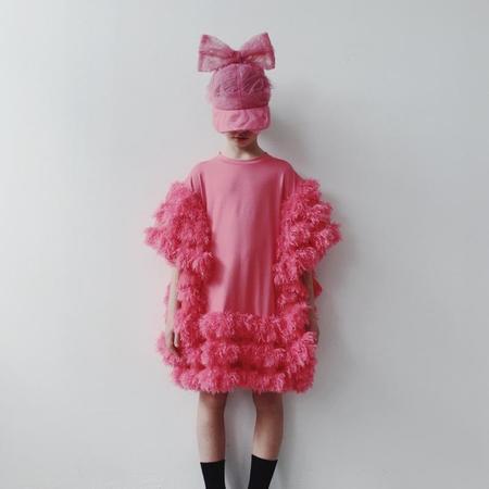 Kids caroline bosmans tulle pink bow cap