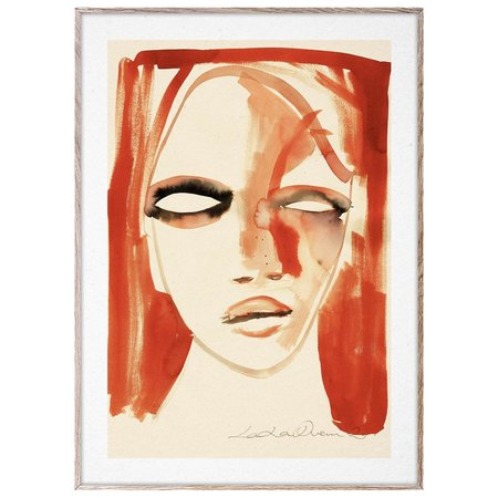 Paper Collective Red Portrait Print by Loulou Avenue