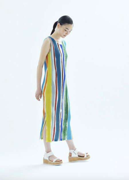 Pleats Please by Issey Miyake Tank Dress - Vivid Leaf Vein