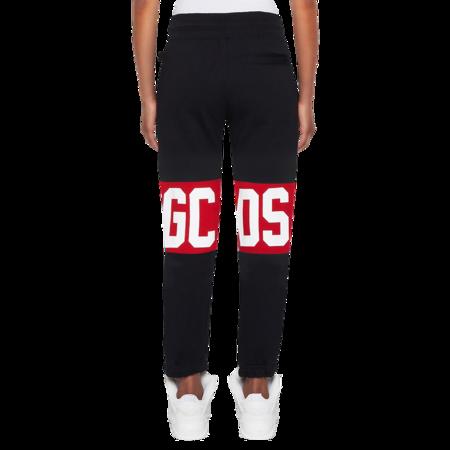 GCDS Logo Band Women CC94W031001-02 Sweatpants - Black/Red