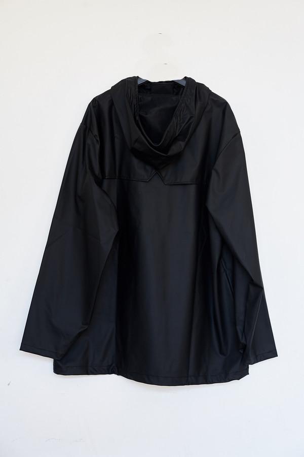 Men's Rains Black Hooded Anorak
