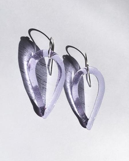 JANE D'ARENSBOURG Tear Drop Earrings - sterling silver/Lilac