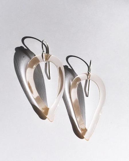 JANE D'ARENSBOURG Tear Drop Earrings - sterling silver/Peach