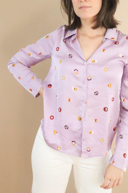 Nice Things Paloma Swedish Dots Shirt - Purple