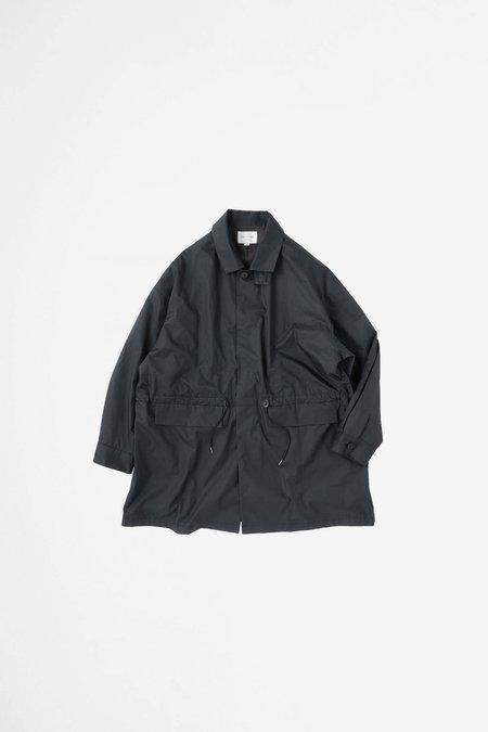 Still By Hand Ball collar coat - ink black