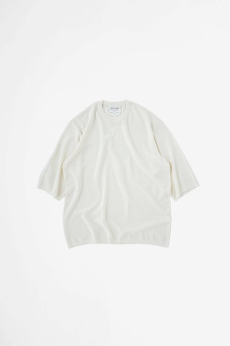 Still By Hand Half sleeve knit t-shirt - off white