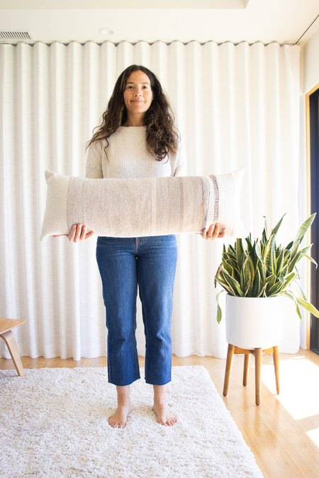 Jess Feury Neutral Extra Long Rock Slab Pillow - multi