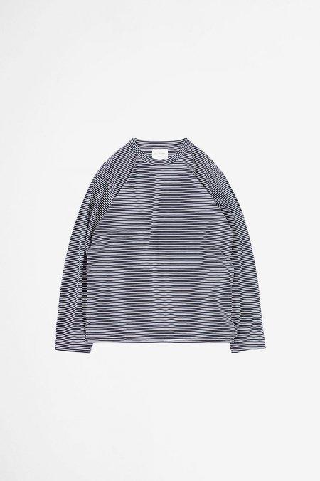 Still By Hand Striped long sleeve t-shirt - black