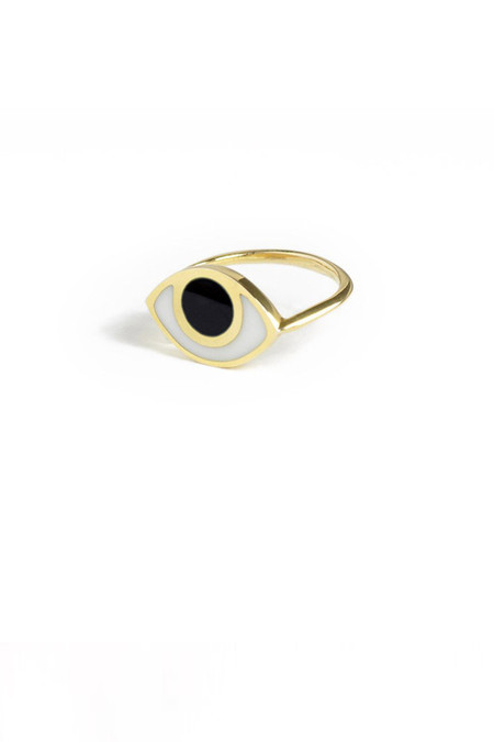 marta pia third eye gold ring with onyx