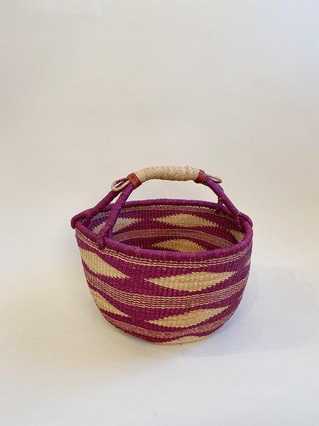 Swahili Modern Diamond pattern bolga basket - Purple