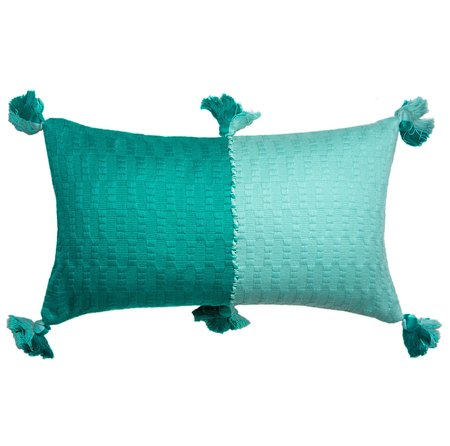 Archive New York Antigua Pillow - Jade/Faded Aqua Colorblocked
