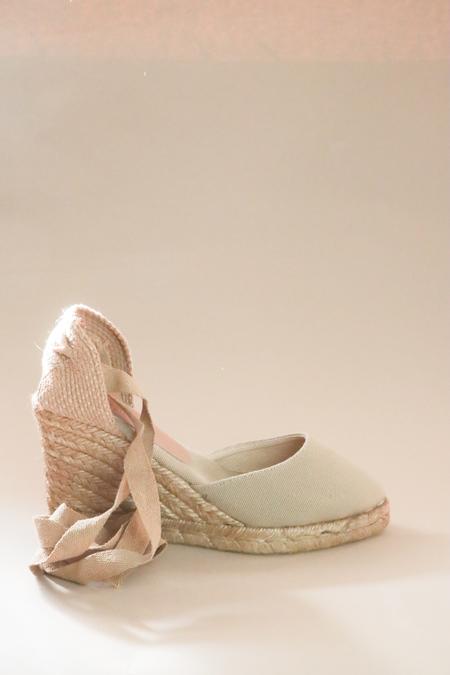 Polka Shoes Gala Ankle Wrap Wedge Espadrille Sandal - Terra