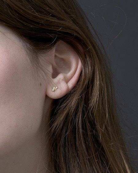 Knobbly Little Gold Puddle Earrings | 14k Gold