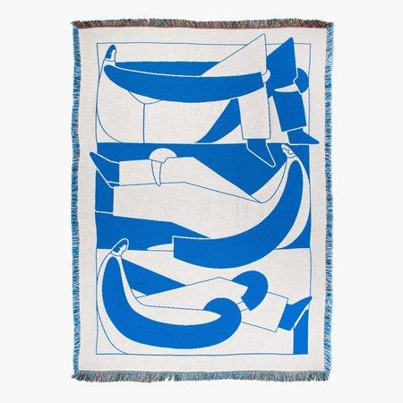 Slowdown Studio Bensen Throw - white/blue