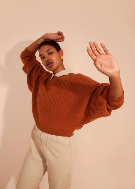 L.F.Markey Verne Knit Sweater - Terracotta