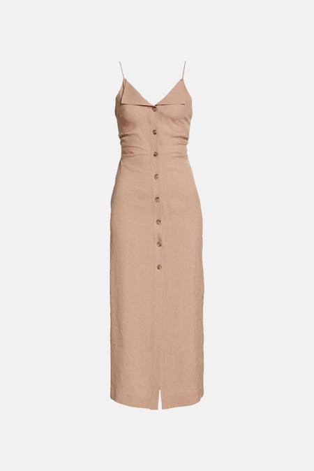 Nanushka Paz Midi Camisole Dress - Nut