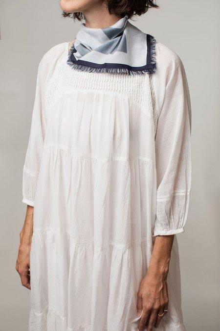 Neem Cotton Tiered Dress - White