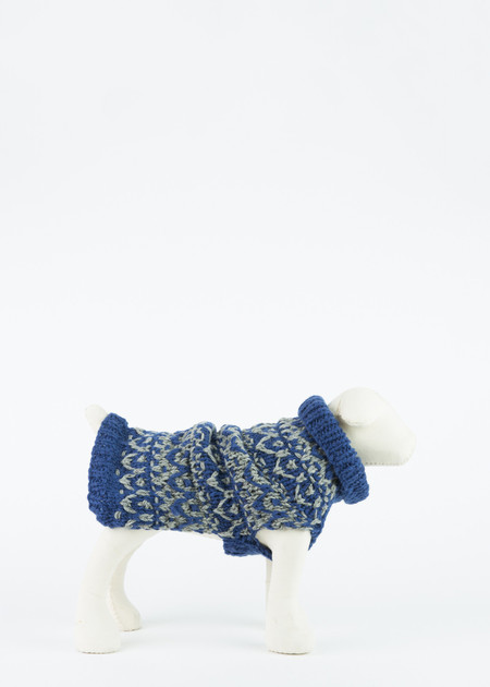 Ware of the Dog Hand Knit Textured Pullover