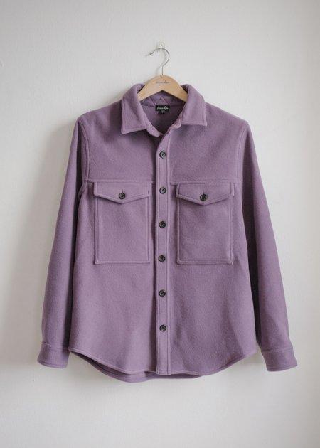 Steven Alan Wool Double Pocket Shirt Jacket - Plum