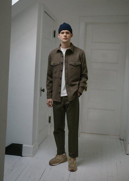 Steven Alan Wool Double Pocket Shirt Jacket - Prairie