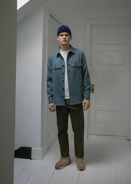 Steven Alan Wool Double Pocket Shirt Jacket - Tumbled Blue