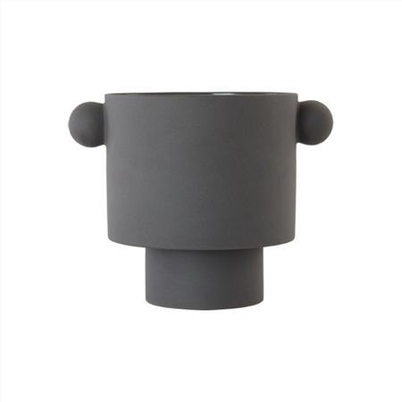 OYOY Large Inka Kana Pot - Charcoal