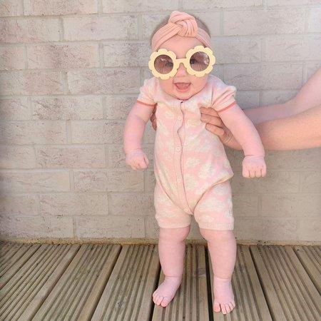 kids the bonnie mob hockney cloud playsuit - pink