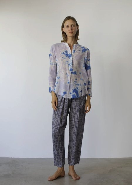 Raquel Allegra Easy Pant - Blue Foulard