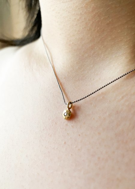 Takara Tiny Diamond on Silk Neve Pendant/Nugget - Gold