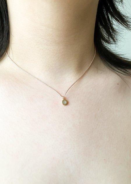 Takara Inlay on Silk Sea Pendant - Gold