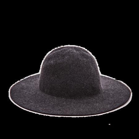 Navy Felt Hat - Grey