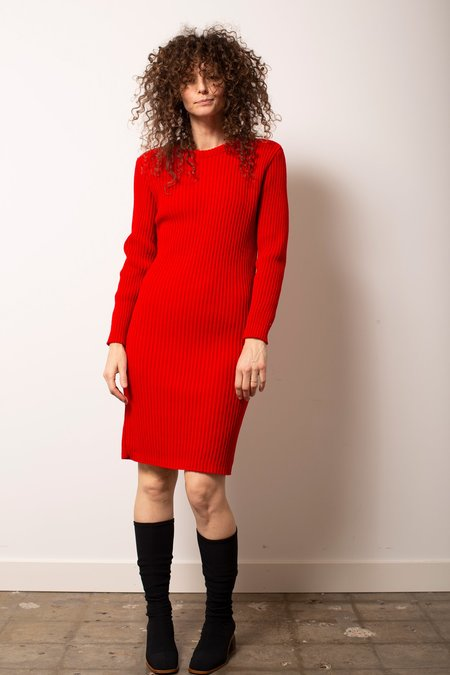 Vintage Sweater Dress - Cherry Red