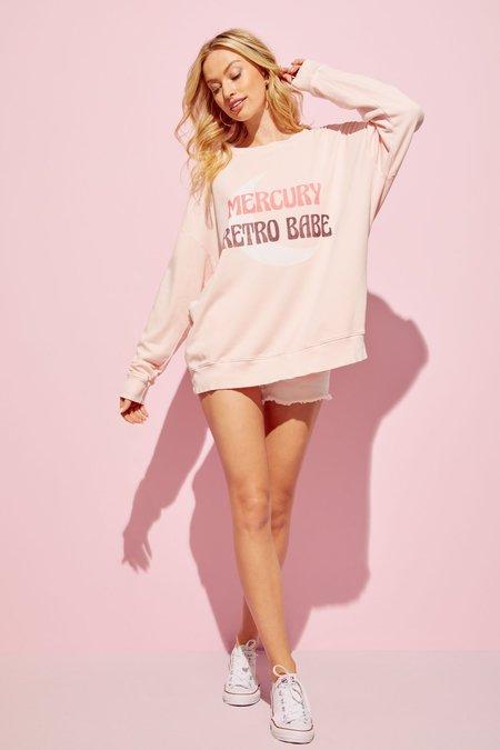 Wildfox Couture Retro Babe Roadtrip Sweatshirt - pink salt