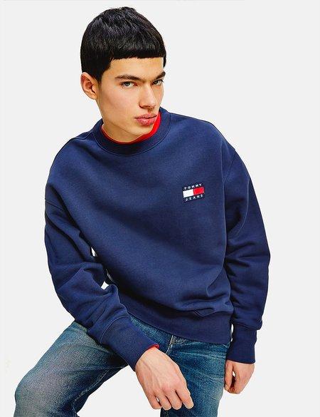 Tommy Jeans Badge Logo Sweatshirt - Navy Blue