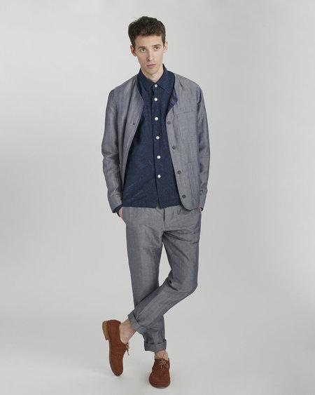 Delikatessen Linen/Cotton Round Collar Jacket