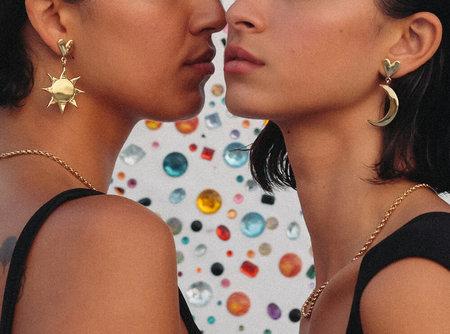 Luiny Half Moon Earrings - Sterling silver