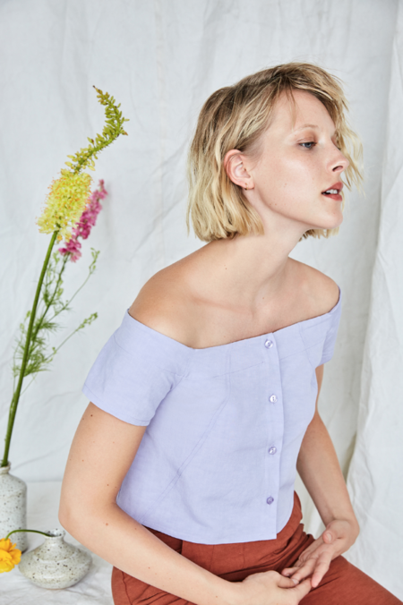 EVE GRAVEL L'IMPATIENTE TOP - lavender