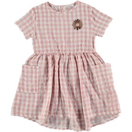 kids picnik chloe flower dress - vichy pink