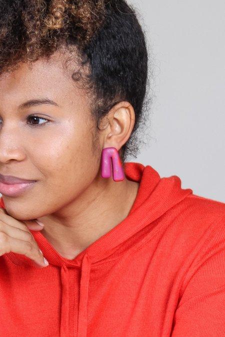 Peppertrain Mini Phoebe Earring - Red Mix