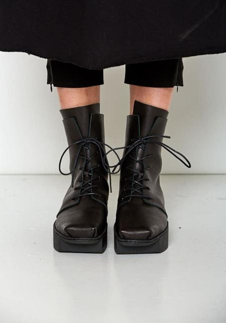 Trippen Lace Up Square Toe Boots