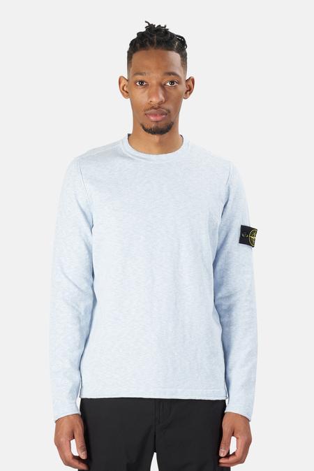 Stone Island Knit Crewneck Sweater - Pale Blue