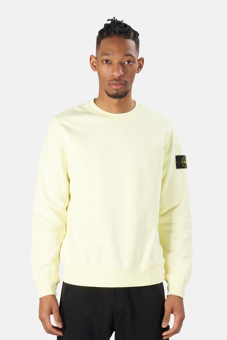 Stone Island Garment Dyed Crewneck Sweater - Lemon