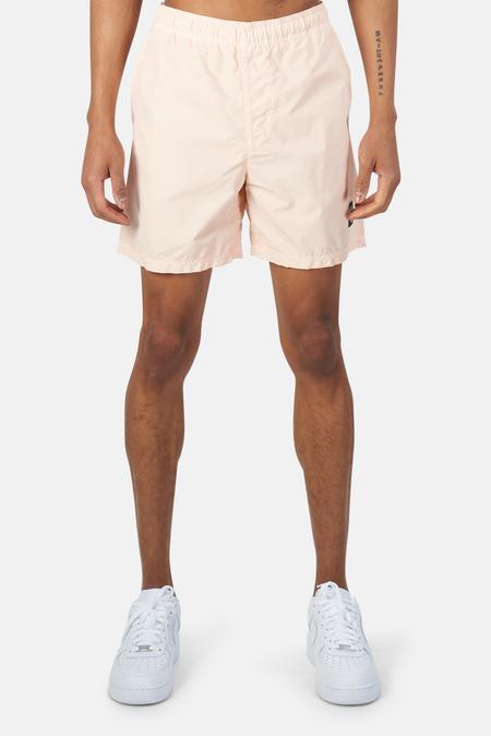 Stone Island Garment Dyed Cotton Swim Shorts - Rustic Rose