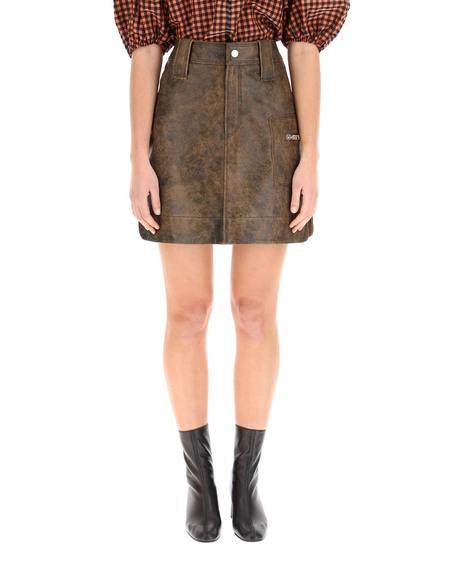 Ganni Vintage Leather Mini Skirt