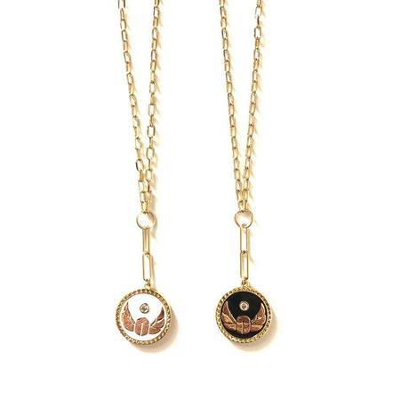 Jennifer Tuton Scarab Medallion Necklace