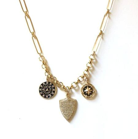 Jennifer Tuton Triple Charm Necklace