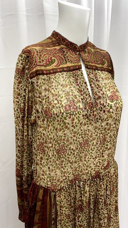 Pre-loved 70's Ritu Kumar for Roshafi Silk Dress - multi