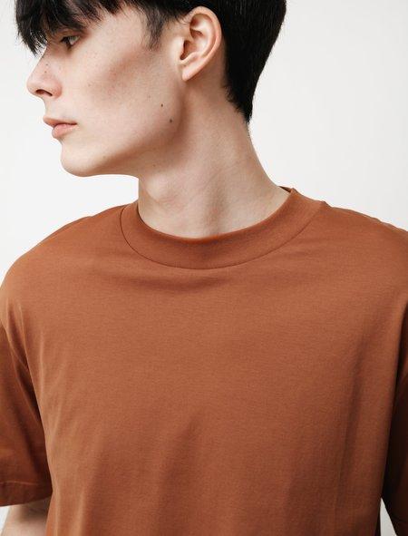 Sunspel SS Mock Neck T-Shirt - Spice