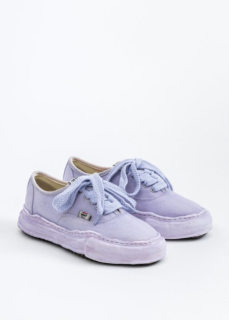 Mihara Yasuhiro Original Sole Overdyed Canvas BAKER Sneaker - Purple