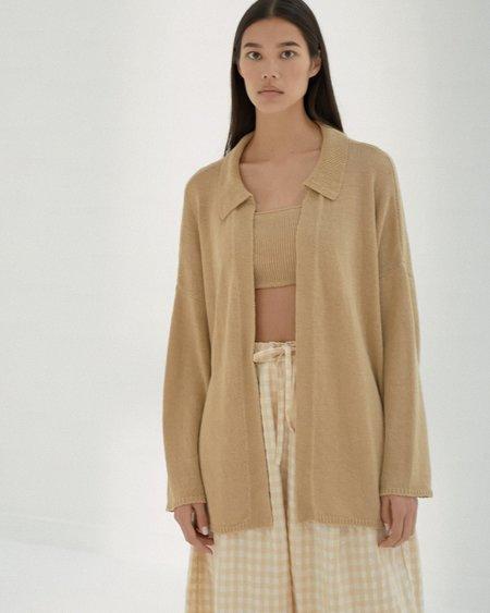 Mónica Cordera Linen Knit Cardigan - Ambar